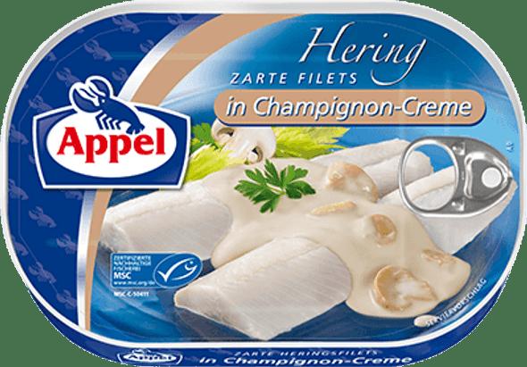 Appel Herring Fillets in Champignon-Creme 200g