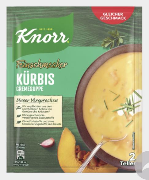 KNORR Feinschmecker Kürbiscreme Suppe 52g