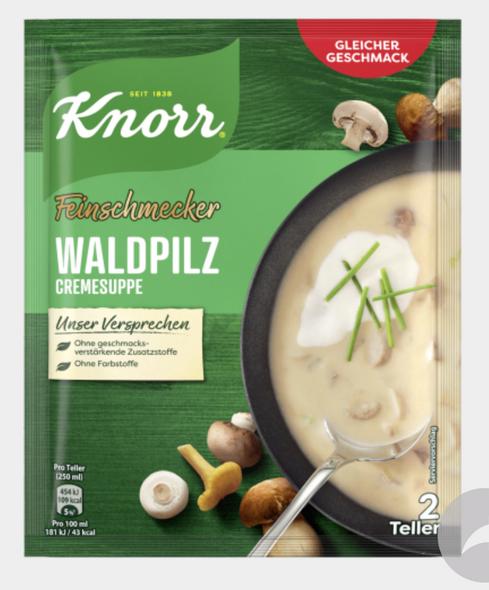 KNORR Feinschmecker Waldpilz Suppe 48g