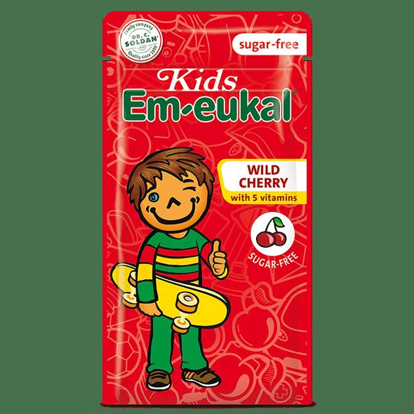 Em-eukal Kids Wild Cherry Sugar-Free Drops 75g