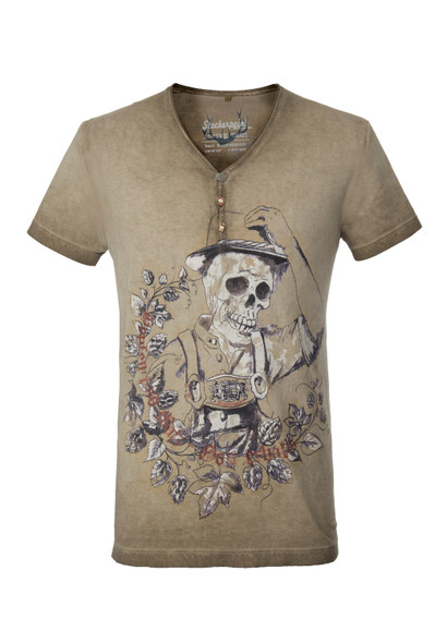 Mens T-Shirt Stockerpoint Oskar Sand