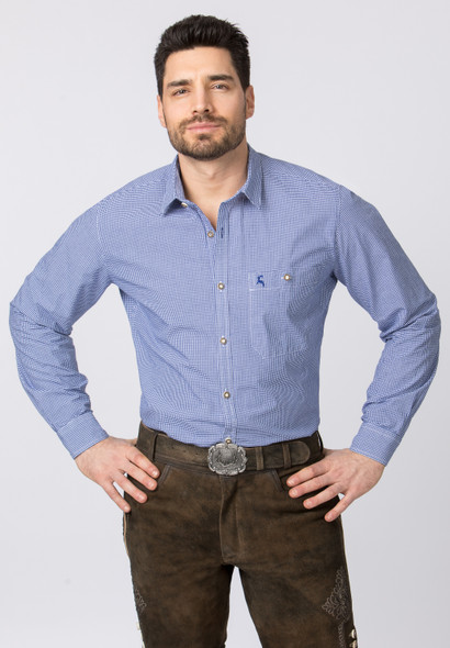 Stockerpoint Traditional Blue Shirt David