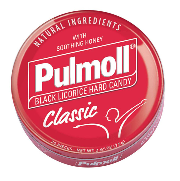 Pulmoll Classic Black Licorice Hard Candy 2.65oz (75g)