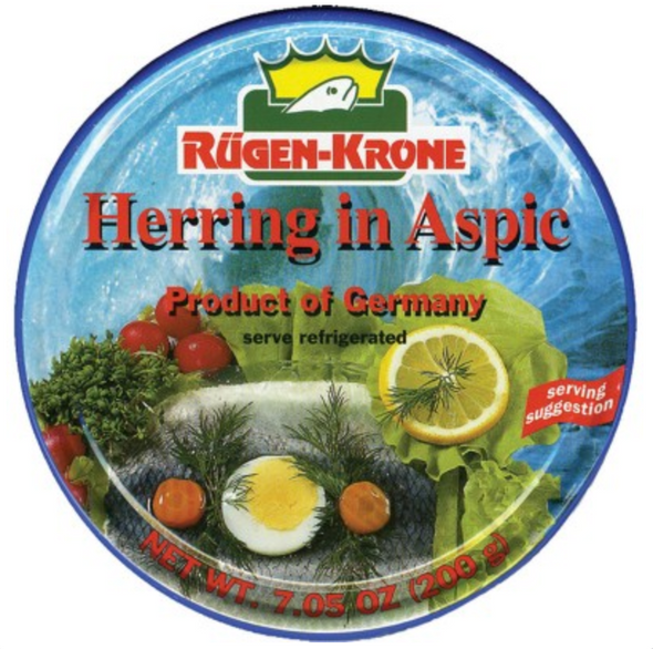 Rugen-Krone Herring Fillets in Aspic 7.05oz (Refrigerated)