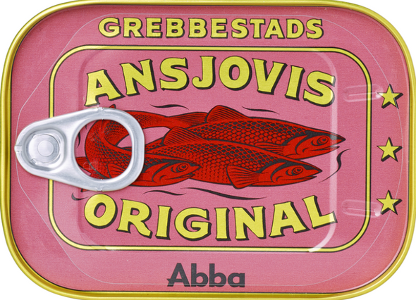 Abba Grebbestads Ansjovis Original 125g (refrigerated)