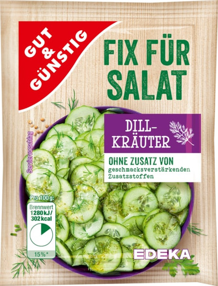 Gut & Gunstig Dill Krauter Fix fur Salat (5x10g)