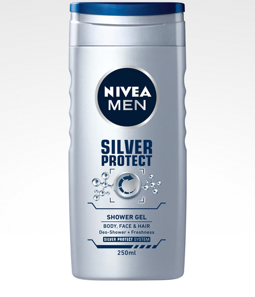 Nivea Men Silver Protect Shower Gel 3-in-1 250ml