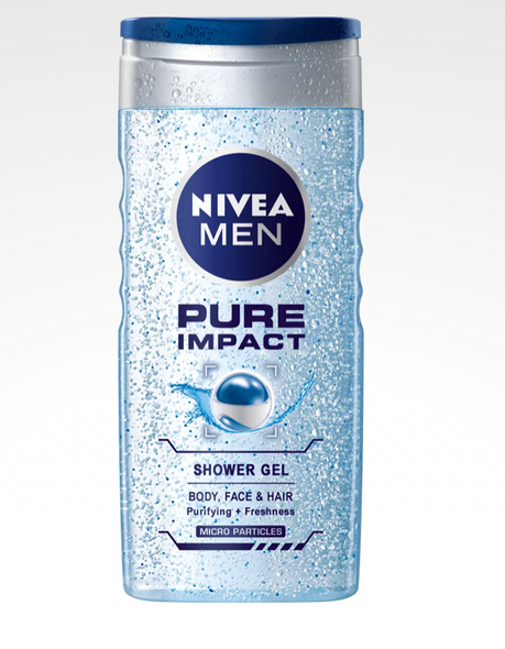 Nivea Men Pure Impact Shower Gel 3-in-1 250ml