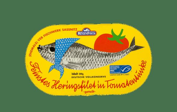Rügen Fisch Herring Fillets in Tomato Sauce 200g