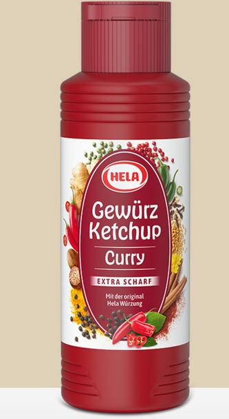 Hela Gewurz Extra Scharf Curry Ketchup 300ml