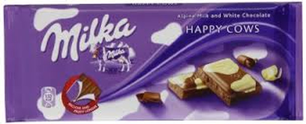 Milka -Kuehflecken (Milk and Chocolate Confection)