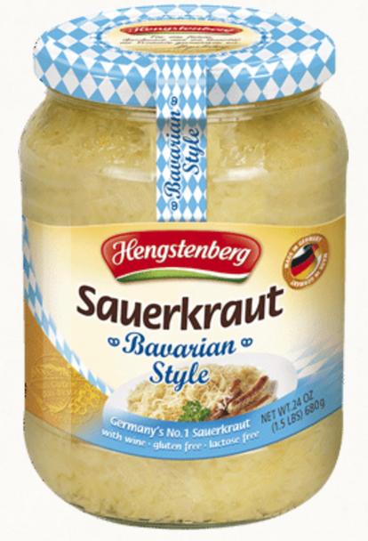 Hengstenberg Bavarian Style Sauerkraut 24oz