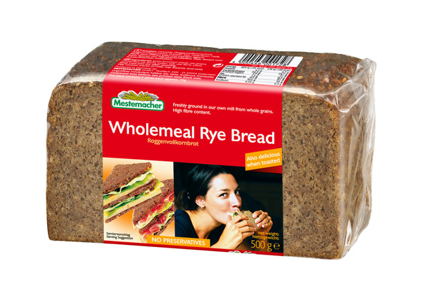 Mestemacher All Natural Famous German Whole Rye Bread 17.6oz