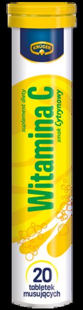 Kruger Vitamin C - 20 effervescent mineral tablets - 180mg
