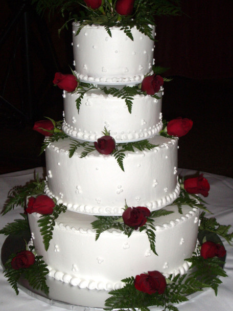 Rose Tiered Wedding Cake