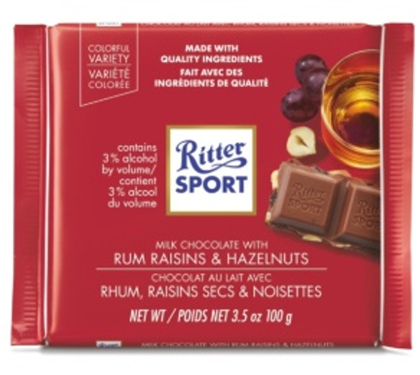 Ritter Sport Rum Trauben Nuss 3.5oz (100g