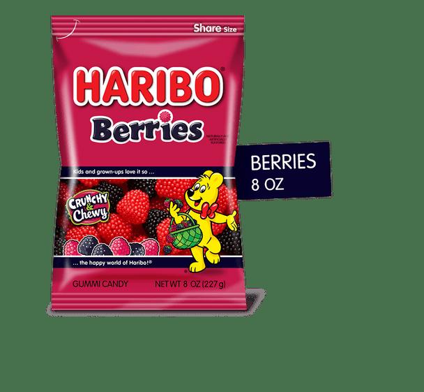 Haribo Red & Black Rasberry Gummies 8oz