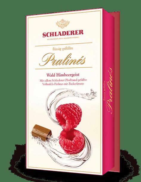 Schladerer Brandy Pralines Wald Himbeergeist 127g