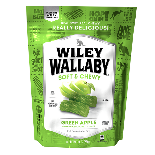 Wiley Wallaby Liquorice Green Apple 10oz.