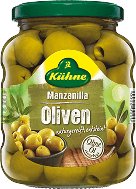 Kuhne Manzanilla Olives 370ml