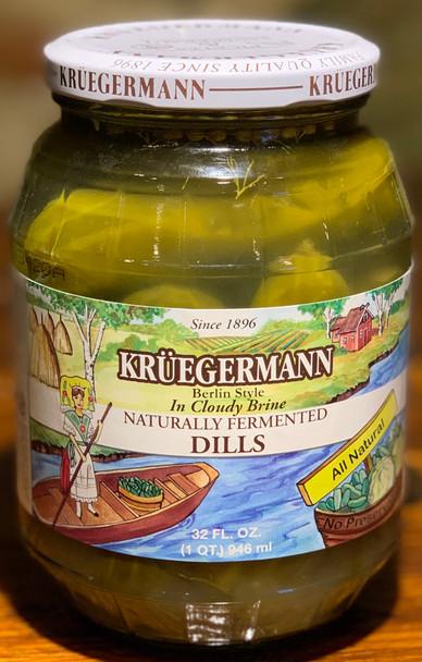 Kruegermann Naturally Fermented Dills 32oz