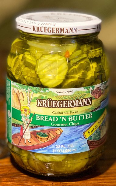 Kruegermann Bread 'n Butter Pickles 32oz