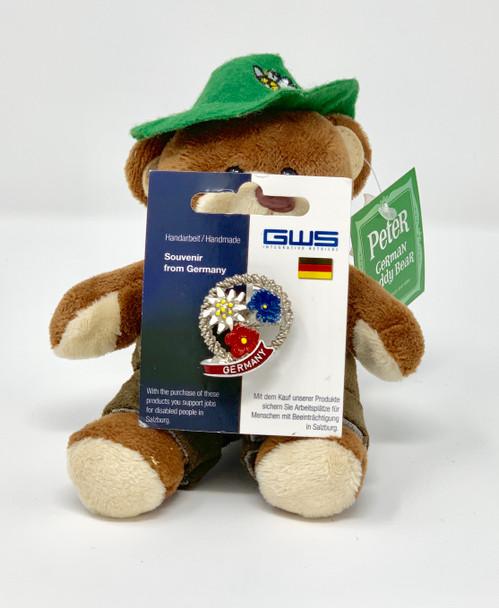 Alpine Hat Pin • Germany • Handmade