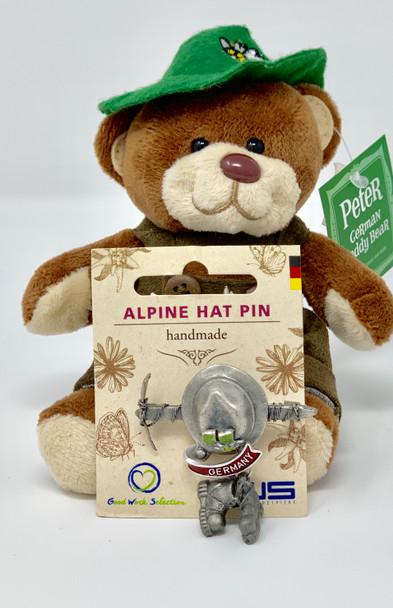 Alpine Hat Pin • Miner • Handmade
