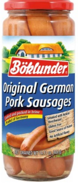 Boklunder Original German Pork Sausage 25.4oz