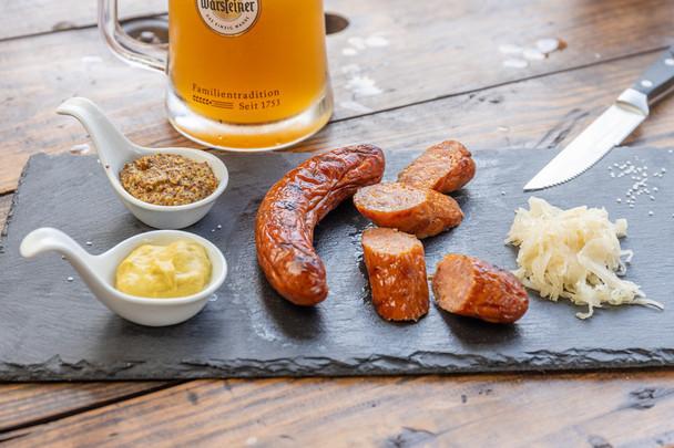 Cheddar Cheese Beer Brat (5) per lb