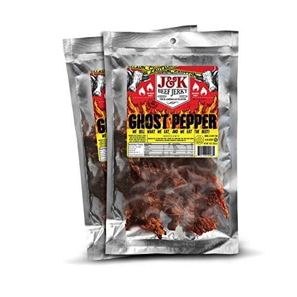 J&K Beef Jerky Ghost Pepper 8oz-1/2 Pound