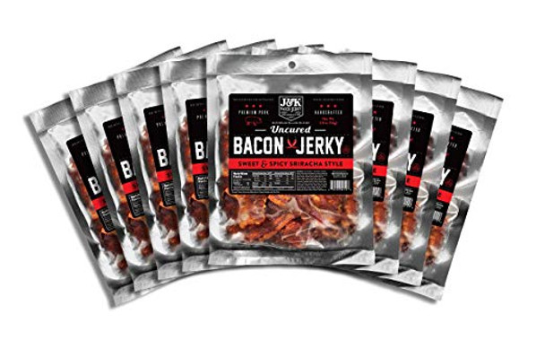 J&K Bacon Jerky Sweet & Spicy Sriracha Style 2oz