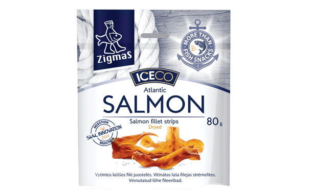 ICECO Dried Salmon Fillet Strips 2.8oz