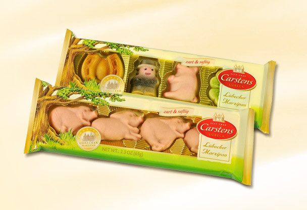 Carstens Lubecker Marzipan Pig Figures