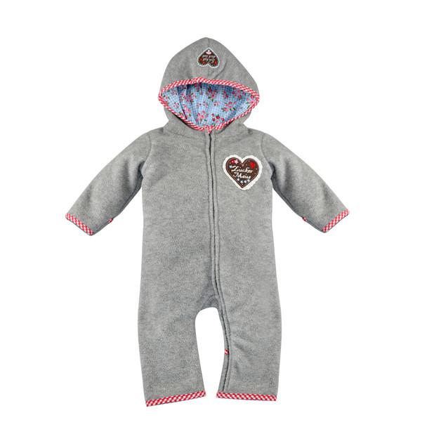 "Baby Fleece Coverall ""Zuckermaus"" Grey"