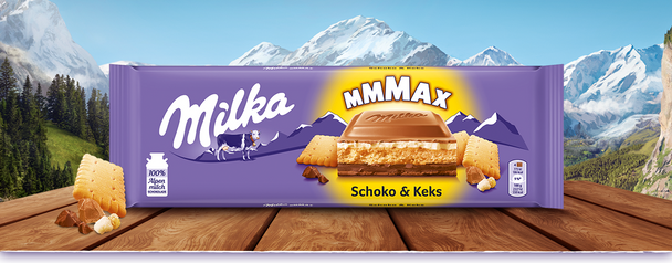 MILKA MMMAX CHOCOLATE & BISCUIT 300g