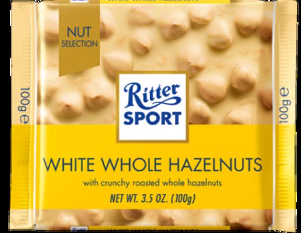 Ritter Sport White Whole Hazelnuts 3.5oz (100g)