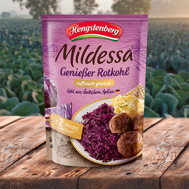 Hengstenberg Mildessa Red Cabbage In Pouch 14oz