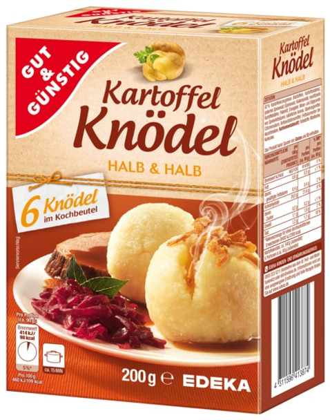 Kartoffel Knodel Halb & Halb (6 Knodel) 200g