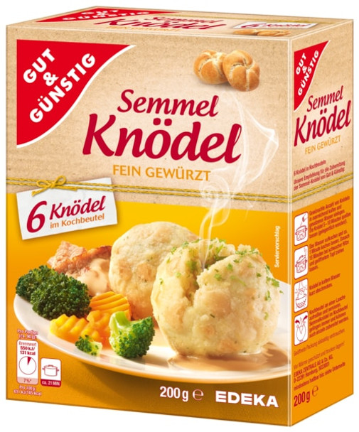 Gut & Gunstig Semmel Knodel Fein Gewurzt (6 Knodel) 200g