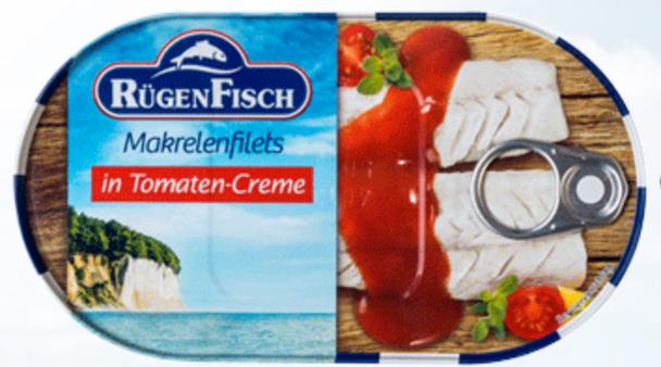 Rügen Fisch Mackerel Fillets in Tomato Sauce 6.17oz (175g)