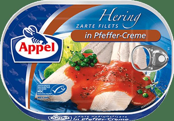 Appel Herring Fillets in Pfeffer-Creme 200g