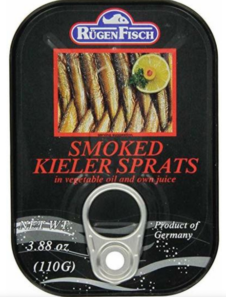 Rügen Fisch Smoked Kieler Sprats 3.88oz (110g)