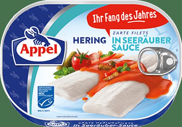 Appel Herring Fillets in Seerauber Sauce 200g
