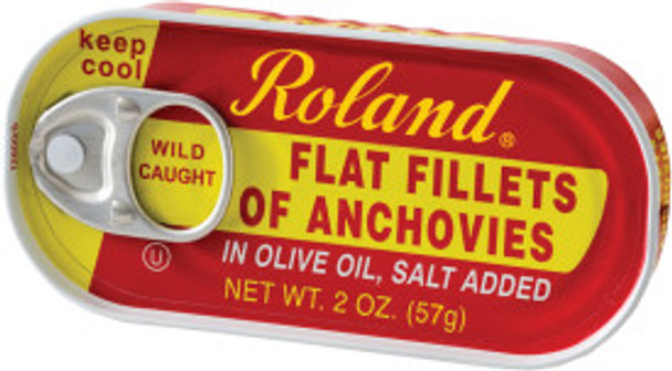 Roland Flat Fillets Anchovies 2oz. (57g)