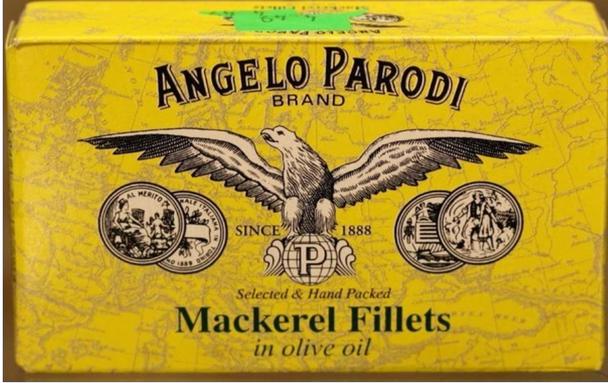 Angelo Parodi Mackerel Fillets In Oil 4.4oz. (125g)