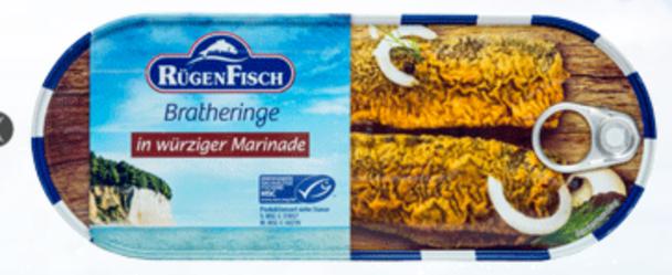 Rügen Fisch Bratheringe in Wurziger 500g