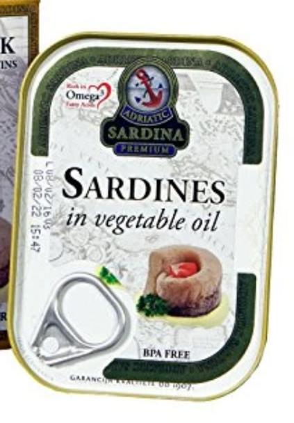 Adriatic Sardina Wild Caught Sardines in Vegetable Oil