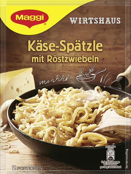 Maggi Kase-Spätzle mit Rostzwiebeln 4.4oz
