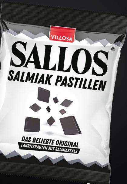 Sallos Licorice Salmiak Pastillen 150g